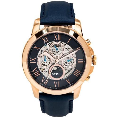 FOSSIL 日月星辰質感時尚機械錶-藍色 ME3029 熱賣中