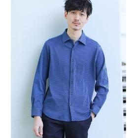(タケオキクチ) TAKEO KIKUCHI シアサッカーシャツ[ メンズ シャツ ストレッチ ストライプ ] 07086067 03(L) ブルー(392)
