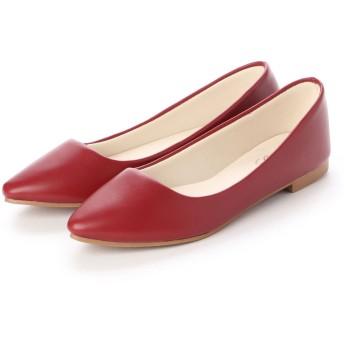 ジーラ GeeRA 【美ラク】足にフィット!やわらかパンプス (赤)
