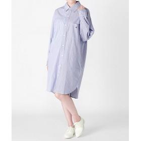 <my panda> Half & Half Shirt LT. BLUExLT 【三越・伊勢丹/公式】
