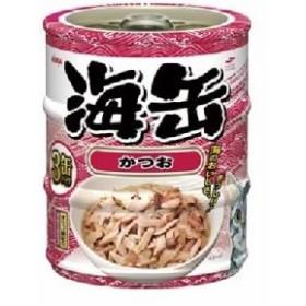 (まとめ)アイシア 海缶ミニ3P かつお 60g×3 【猫用・フード】【ペット用品】【×24セット】  送料無料
