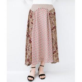 haco! シンプルなトップスに合わせるだけでかわいくなれる MIX柄スカート(ベージュ系その他)