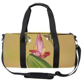 キャリーオンバッグ ボストンバッグ 2WAYショルダーバッグ 大容量 旅行バッグ 機内持ち込み トラベルバッグ ハチドリ