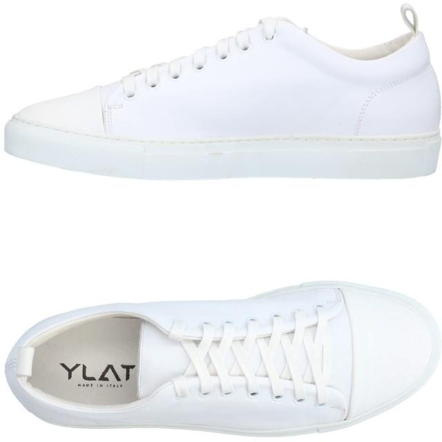 《期間限定セール開催中!》YLATI メンズ スニーカー&テニスシューズ(ローカット) ホワイト 41 革