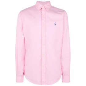 《期間限定セール開催中!》POLO RALPH LAUREN メンズ シャツ ピンク XL コットン 100% Slim Fit Twill Shirt
