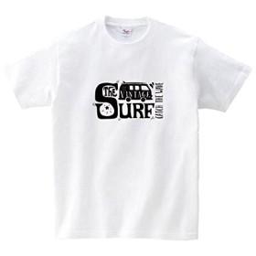 Lindwurm (リンドヴルム) Tシャツ メンズ 半袖 おしゃれ サーフ ロゴ 夏 クラシックカー ハワイ クルーネック Uネック ユニセックス 男女兼用 プリントTシャツ ホワイト XXL