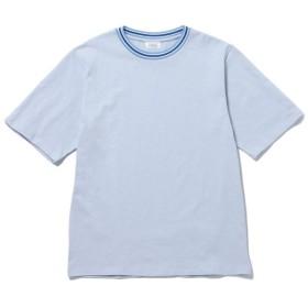 【74%OFF】 ジュンレッド ラインリブクルーネックTシャツ メンズ サックス(48) S 【JUNRed】 【セール開催中】