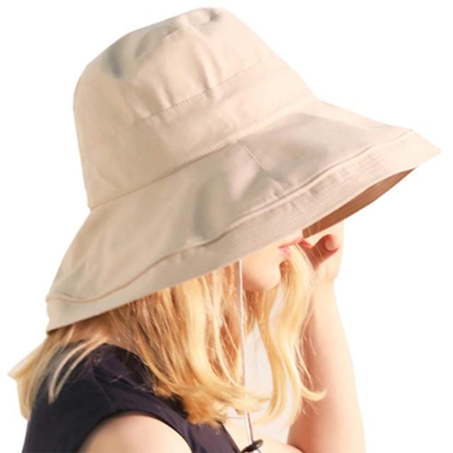 F.ZH UVカット帽子 レディース ハット サファリハット 日よけ帽子 紫外線対策 つばひろ 折りたたみ ワイヤーを加える 日焼け防止 熱中症予防 軽量 旅行用 日よけ 日射し 海 夏季 女優帽 小顔効果抜群 (ロ-ベージュ)