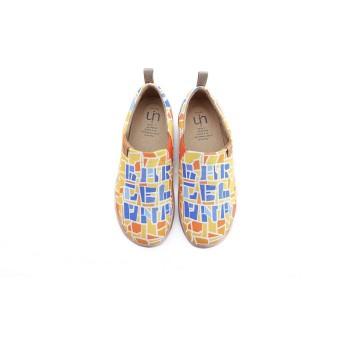 [UIN] 女性靴 キャンバス スリップ スリッポン 春靴 通勤用スニーカー ウォーキングシューズ 旅行 靴 ボウリングシューズ テニスシューズ ダンスシューズ 大きいサイズのレディースのシューズ   解锁巴塞罗那 (24)