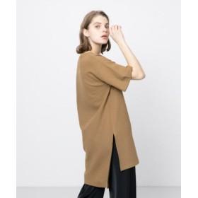 (SENSE OF PLACE/センスオブプレイス)チュニックTシャツ(半袖)/レディース CAMEL