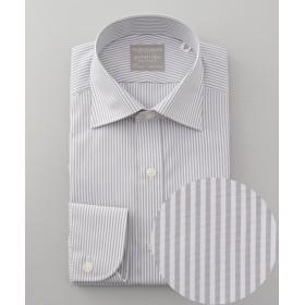 五大陸 PREMIUMPLEATS ドレスシャツ / ロン メンズ ライトグレー系1 15H(39-86) 【gotairiku】