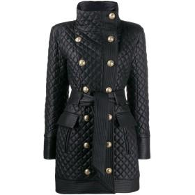 Balmain キルティング コート - ブラック