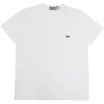 Maison Kitsune (メゾン キツネ) TEE SHIRT TRICOLOR FOX PATCH AM00102 KJ0010 メンズ Tシャツ ホワイト M [並行輸入品]