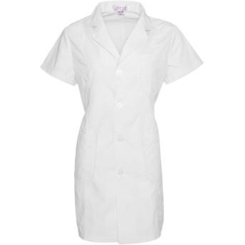 Prettyia ラボコート ポリエステル ウェアハウスコート ドクターコート 男女兼用 全4サイズ4様式 - 女性 - 半袖, M