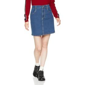 [ウィゴー] WEGO デイリー タイト ミニ スカート XS デニム インディゴ 中濃色