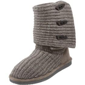 (ベアパウ) Bearpaw Knit Tall レディーズ グレー 基本織物 冬のブーツ ラウンドトゥ [並行輸入品]