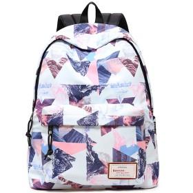 女の子のためのバックパックスクールバッグ12-15-18歳の若い大学の女性の旅行バッグレジャー軽量防水毎日収納大容量バックパックBAACD-Pink-M