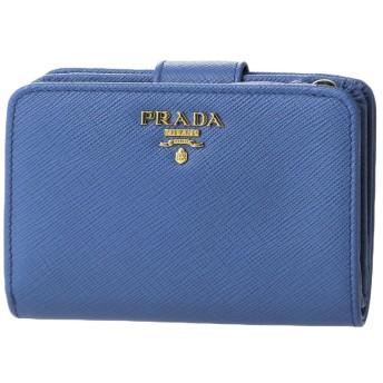 プラダ(PRADA) 2つ折り財布 1ML018 QWA F0013 サフィアーノ メタル ブルー 青 [並行輸入品]