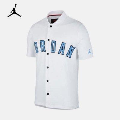 南 2019 5月 NIKE AIR JORDAN AJ1111-100 棒球上衣 白北卡藍 棒球TEE AJ 棒球外套