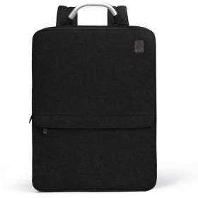 CAI ビジネスリュック | バックパック バッグ リュックサック 軽量 極薄 2way マチ拡張可能 ブランド ビジネスバッグ 大人 ビジネス (ブラック)