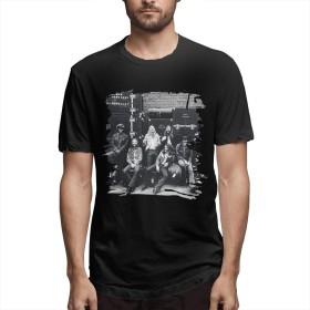 メンズ Tシャツ おしゃれ 半袖 Allman Brothers Band At Fillmore East DTG プリント ブラック L