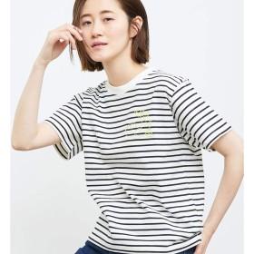 ロペピクニック(ROPE' PICNIC) フルーツ刺繍Tシャツ【ブラック系(02)/38】