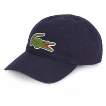 ラコステ メンズ 帽子 アクセサリー Big Croc Gabardine Cap Navy Blue