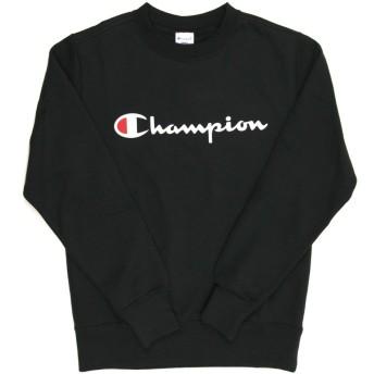 (チャンピオン) Champion ロゴ クルーネック スウェット トレーナー 裏毛(ベーシックシリーズ)カットソー メンズ レディース L 090_Black C3-H004