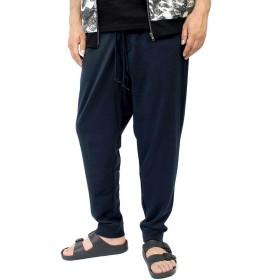 ジョガーパンツ メンズ 大きいサイズ スウェット ストレッチ ウエストゴム イージーパンツ 3L ネイビー