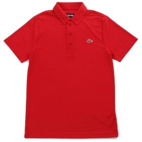 LACOSTE(ラコステ) 半袖 ポロシャツ ワンポイント ジャガードストライプ DH8132 (3(日本サイズM), レッド) [並行輸入品]