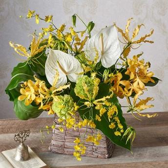 【日比谷花壇】アレンジメント「8月の旬の花 ラトゥール」