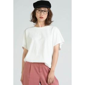 LIPSTAR 星刺繍タックゆるTシャツ Tシャツ・カットソー,オフホワイト