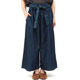 [チチカカ] イェイ刺繍デニム パンツ FREE インディゴブルー