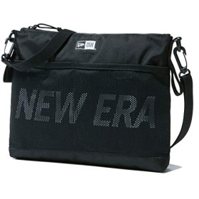 ニューエラ バッグ メンズ レディース NEW ERA サコッシュ プリントロゴ ブラック/ホワイト