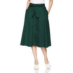 (プードゥドゥ) POU DOU DOU ウエスト リボン ミモレ スカート 1911147534 3 グリーン レディース フレア スカート ひざ下