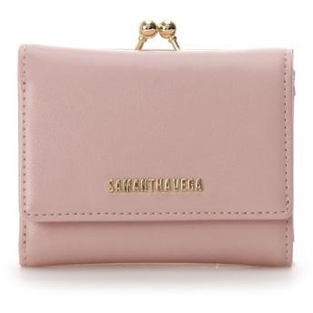 サマンサベガ シンプルロゴ 折財布 ベビーピンク