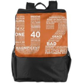 メンズ レディース U2 ロック リュック 旅行バッグ リュックサック バックパック デイリーリュック ビジネスリュック おしゃれ 高校生 通学 男女兼用 アウトドア スポーツ 大容量 多機能 軽量 通勤 学生 旅行