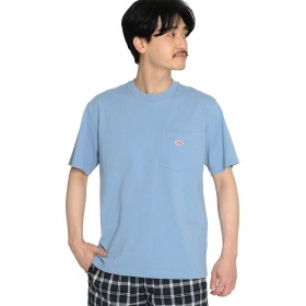 (ビームス)BEAMS/半袖 カットソー 【WEB限定】DANTON(ダントン) / ポケット Tシャツ メンズ フェード ブルー 38