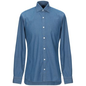 《期間限定セール開催中!》BARBA Napoli メンズ デニムシャツ ブルー 38 コットン 100%