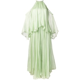 Maria Lucia Hohan オープンショルダー ドレス - グリーン