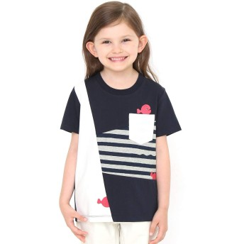 (グラニフ) graniph コラボレーション キッズ Tシャツ きんぎょ が にげた きんぎょさん (五味太郎) (ネイビー) キッズ 100 (g28) #おそろいコーデ