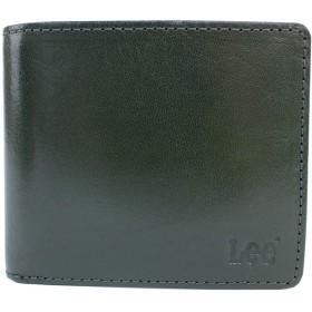 二つ折り財布 財布 0520234 Lee リー (グリーン(GR))