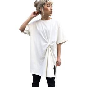 (リップスター) LIPSTAR クウボウ天竺ねじりチュニックTシャツ 610783027 M オフホワイト