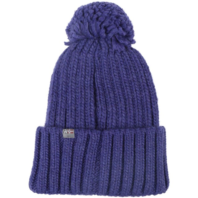 《セール開催中》NAPAPIJRI メンズ 帽子 ブライトブルー one size アクリル 75% / ウール 10% / ナイロン 10% / レーヨン 5% SEMIURY 2