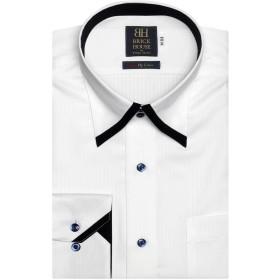 ブリックハウス ワイシャツ 長袖 形態安定 マイター ボットーニ スナップダウン 綿100% 標準体 メンズ BM019101AA12N4A-90 シロ S-80