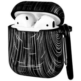 XIHAMA apple AirPods対応 ケース カバー 収納ケース ワイヤレスイヤホンケース 保護用 防水 シリコン製カバー 耐衝撃 滑り止め カラビナ、ストラップ付き (Colorful-5)