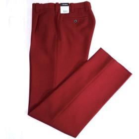41108 秋冬 ウォッシャブル ワンタックパンツ アジャスター付き スラックス レッド(赤) サイズ 80 パンツ・スラックス 紳士服 メンズ 男性用