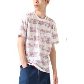 [ジップファイブ] ZIP FIVE Tシャツ 裏 プリント 半袖 総柄 TC メンズ ファッション 76821-055-19 A01-RED M