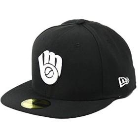 ニューエラ キャップ メンズ 59FIFTY NEW ERA CAP MEN'S ミルウォーキー・ブルワーズ ブラック&ホワイト ベースボールキャップ NEWERA メンズ 帽子 [並行輸入品]