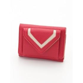 40%OFF Hallmark (ホールマーク) ミニ三つ折り財布プレーン RED